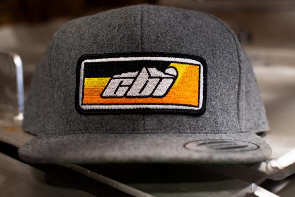 grey wool snap back hat cbi