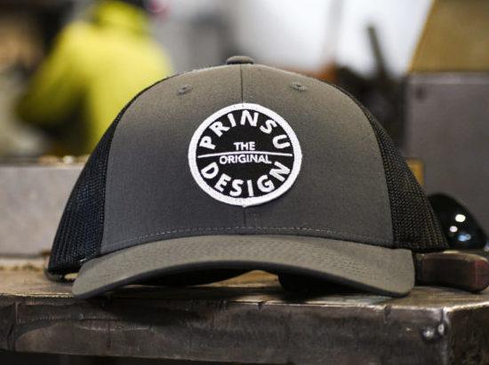 Prinsu grey black hat