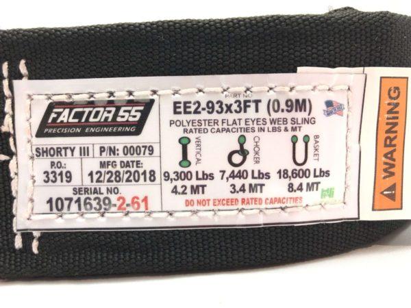 Factor 55 Shorty Straps II & III